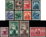 Lot n° 4787 - ** - TRIESTE ZONE A 48/59 : série courante de 1949-50, TB