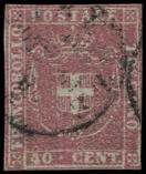 Lot n° 4748 -  - ITALIE (ANCIENS ETATS) TOSCANE 21 : 40c. rouge, obl., TB. C